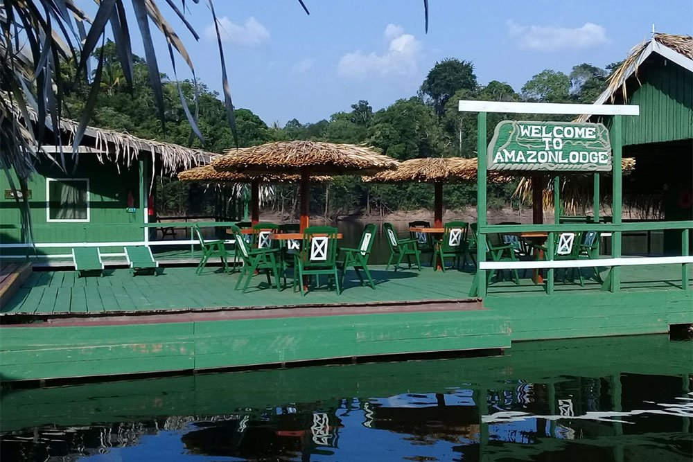 Restaurant area, Amazon Lodge